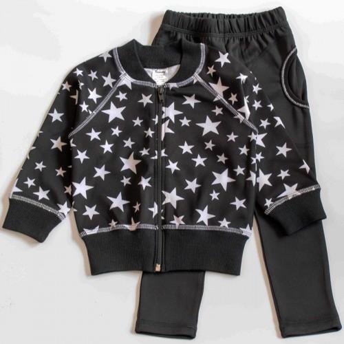 Спортивный костюм Звезды 8 лет 128см Черно-белый 3415