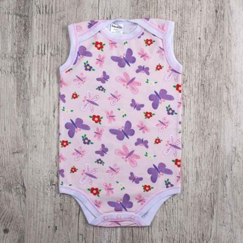 Боди Бабочки 9-12 месяцев 80см Розовый 3081