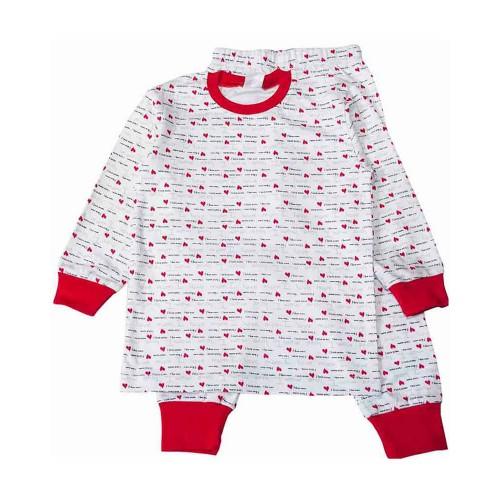 Пижама I Love 10 лет 140см Красный 3544