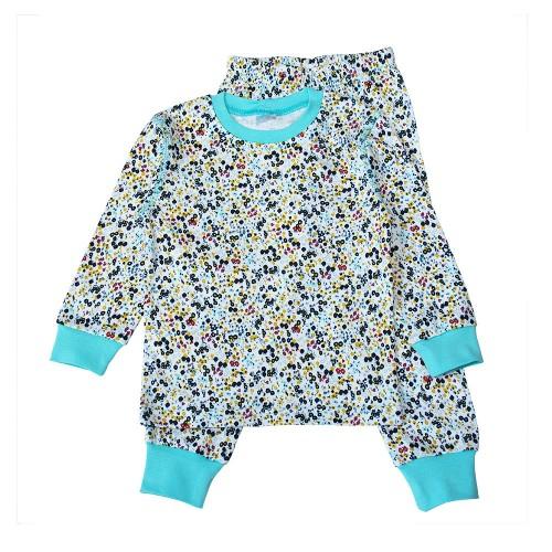 Пижама Цветы 5 лет 110см Бирюзовый 3523