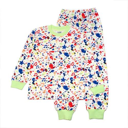 Пижама Клякса 5 лет 110см Разноцветный 3518