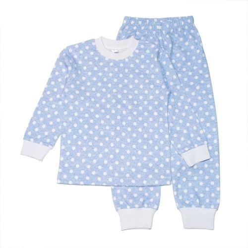 Пижама Горох 9 лет 134см Голубой 3516