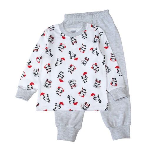 Пижама Панда 7 лет 122см Серый 3502