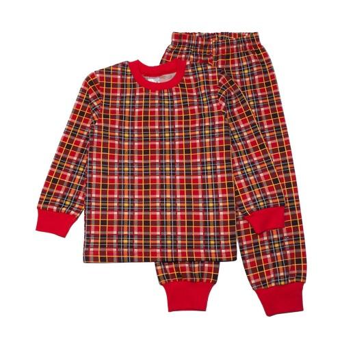 Пижама Клетка 7 лет 122см Красный 3495