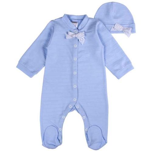 Человечек Крошка 0-3 месяцев 62см Голубой 2639