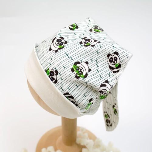 Шапочка Панда 0-3 месяцев 62см Зеленый 2834
