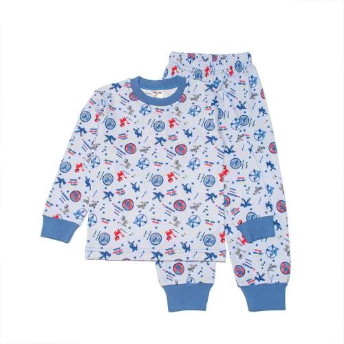 Пижама Такса 4 года 104см Синий 2988