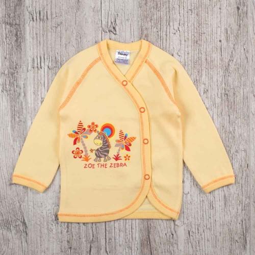 Распашонка малышу Зоопарк 6-9 месяцев 74см Желтый 3239