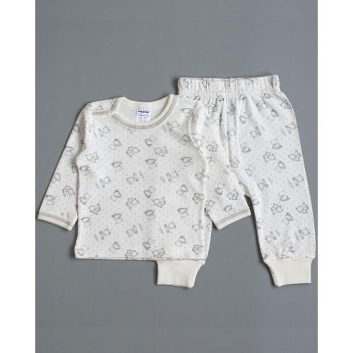 Пижама Мишки 1.5 года 86см Серый 3954