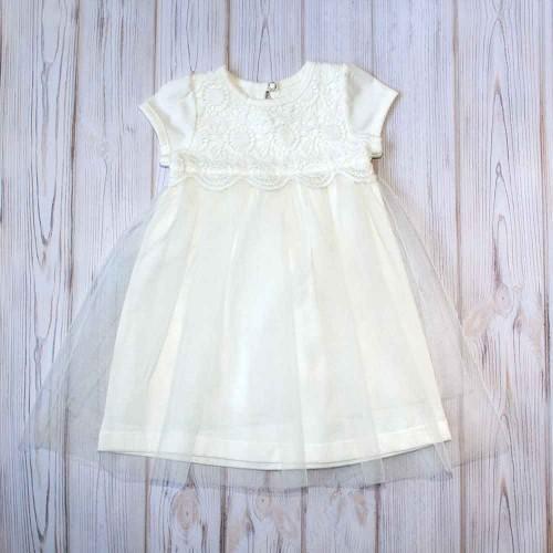 Платье Ада 0-3 месяцев 62см Шампань 4106