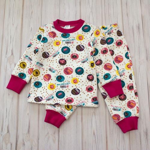 Пижама Baby 1.5 года 86см Розовый 4325