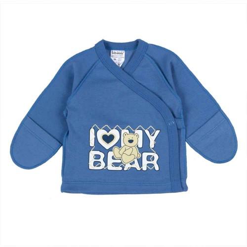 Распашонка Bear 0-1 месяцев 56см Индиго 4374