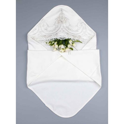 Крыжма (крестильное полотенце) Богема серебро 90х90 см Шампань 4405