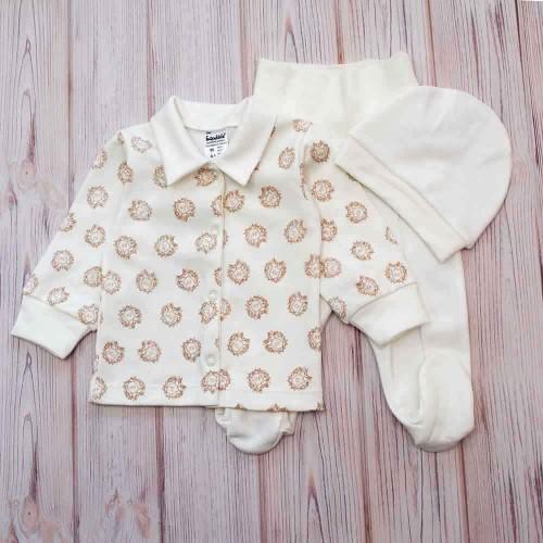 Комплект для малышей Милорд 0-3 месяцев 62см Молочный 4528
