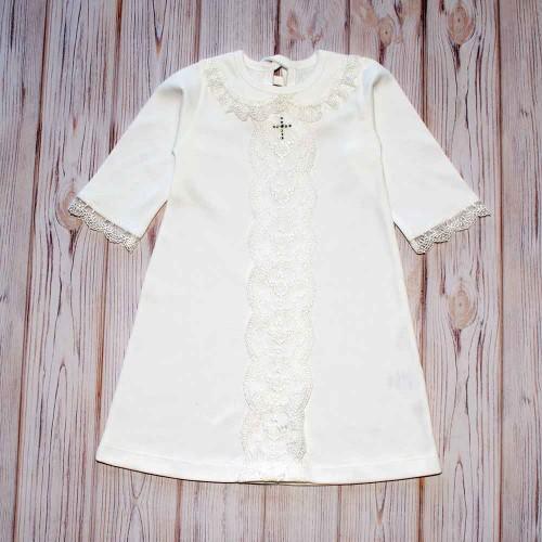 Рубашка для крещения Венеция 3-6 месяцев 68см Шампань 4546
