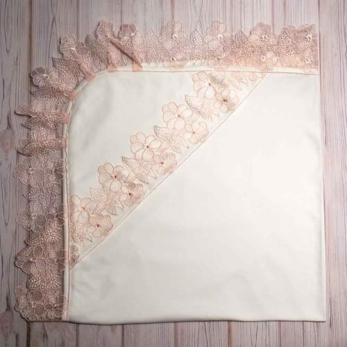 Крыжма (крестильное полотенце) Фиалка 90х90 см Шампань 4682