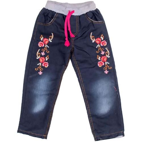 Джинсы теплые mini Style 4 года 104см Синий 5041