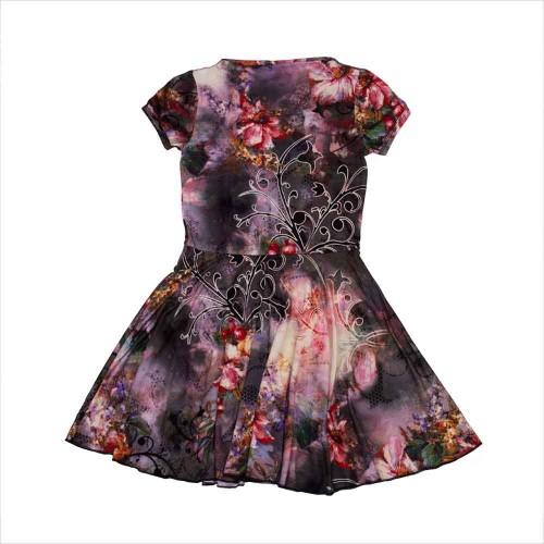 Платье Вишинка 10 лет 140см Разноцветный 5164