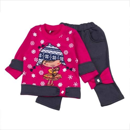 Комплект теплый Pakel 9-12 месяцев 80см Розовый 5165