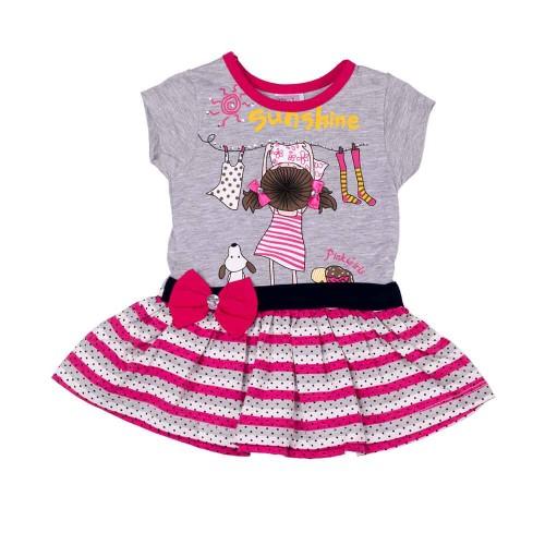 Сарафан Pink Sunshine 9-12 месяцев 80см Разноцветный 5256