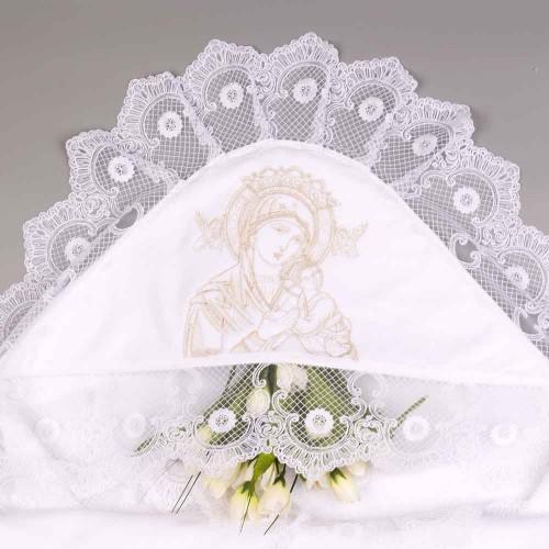 Крыжма Дева Мария 100х100 см Белый 5417