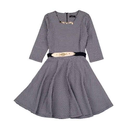 Платье Diren Kids 14 лет 164см Черно-белый 5580