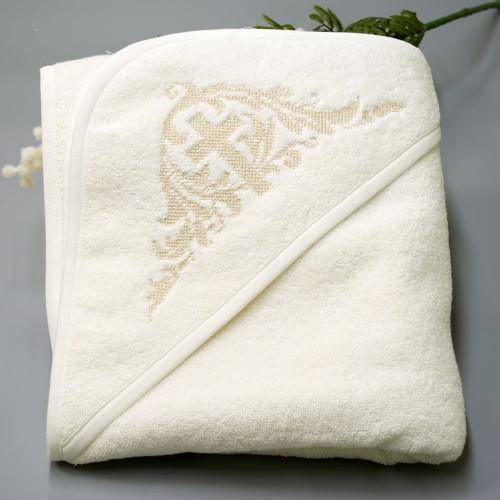 Крыжма (крестильное полотенце) махра Глория 100х100 см Шампань 5632