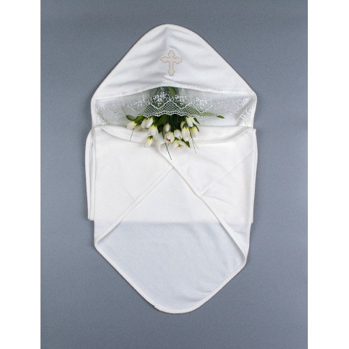 Крыжма (крестильное полотенце) для Крещения мини 90х90 Шампань 5691
