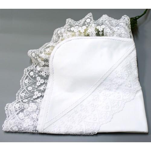 Крыжма (крестильное полотенце) Карина 90х90 Белый 5694