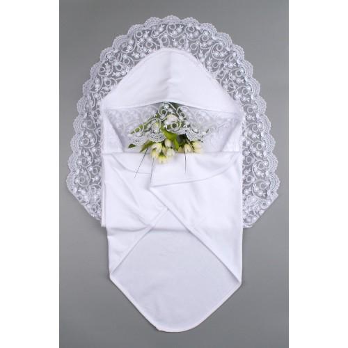 Крыжма (крестильное полотенце) Барбара 90х90 Белый 5725